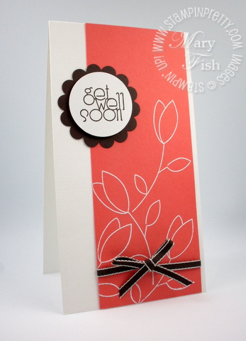 Stampin up punch raining flowers rubber stamps demonstrator video tutorial