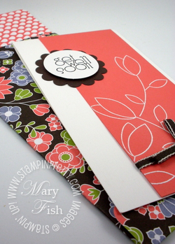 Stampin up get well card idea rubber stamps envelope video
