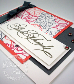 Stampin up falling leaves rubber stamps thanksgiving card sample blog idea