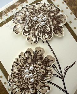 Stampin up field flowers rubber stamps blog card idea mocha morning