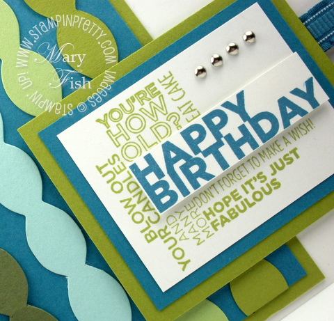 Masculine Birthday Card With Stampin Up Delightful Dozen Stampin