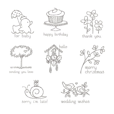 Easy events rubber stamps stampin up