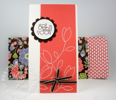 Stampin up raining flowers get well card idea video tutorial envelope simply scored