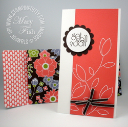 Stampin up raining flowers get well card idea video tutorial envelope simply scored punch