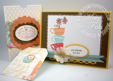 Stampin up tea shoppe rubber stamps punch occasions mini catalog group