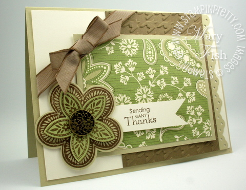 Stampin up triple treat flower punch big shot demonstrator card idea