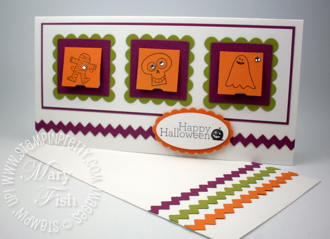 Stampin up halloween card ideas punch peekaboo frames die big shot