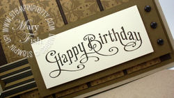 Stampin up masculine card birthday idea perfectly penned rubber stamps