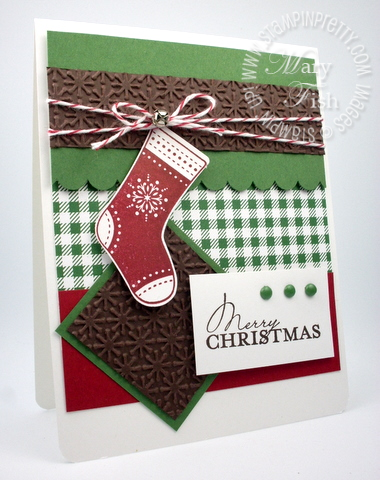 Stampin up stitched stockings rubber stamps builder punch christmas catalog