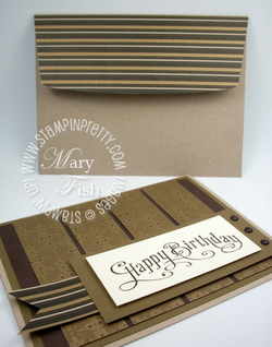 Stampin up mocha morning masculine birthday card idea perfectly penned
