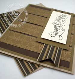 Stampin up masculine card birthday idea mocha morning perfectly penned