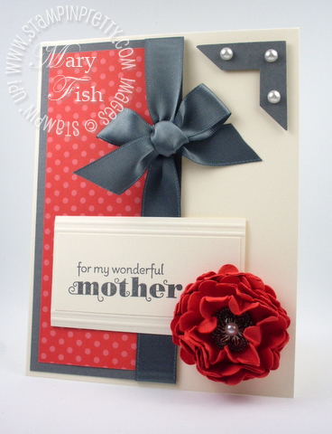 Stampin up scallop circle punch flower photo corner blog tutorial