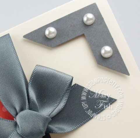 Stampin up tutorial video photo corner punch pearls