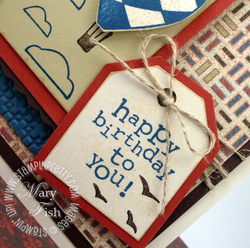 Stampin up masculine birthday card idea tag punch