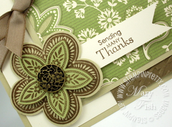 Stampin up rubber stamps fancy flower punch holiday mini catalog spice cake