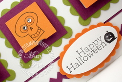 Stampin up punch oval halloween card idea rubber stamps