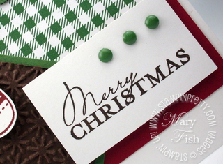 Stampin up holiday mini catalog card idea contempo christmas rubber stamps