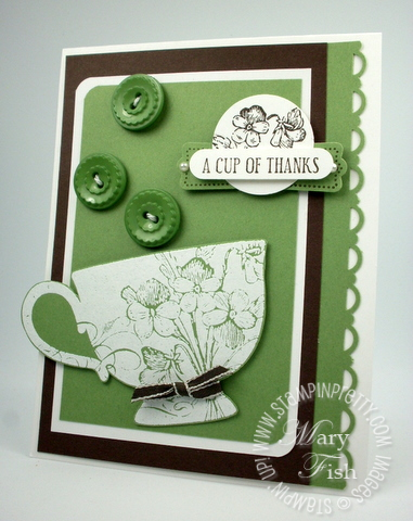 Stampin up punch tea cup catalog card idea