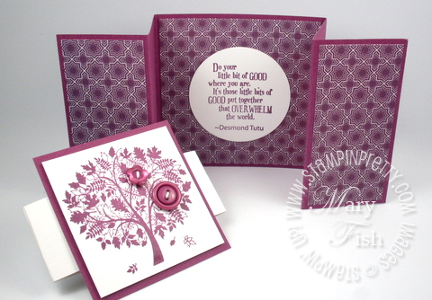 Stampin up demonstrator blog video tutorial z fold card idea