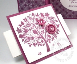 Stampin up demonstrator leaves of a tree rubber stamps