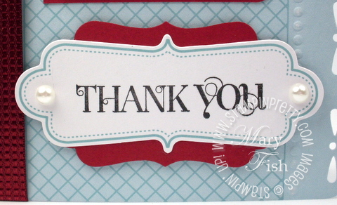 Stampin up curly cute rubber stamp thank you card idea video tutorial