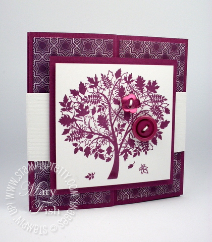 Stampin up leaves of a tree z fold card idea holiday mini catalog