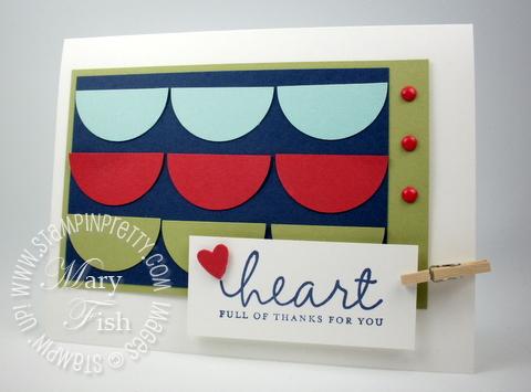 Stampin up lighthearted card idea holiday mini catalog circle punch