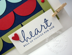 Stampin up lighthearted rubber stamps circle heart punch