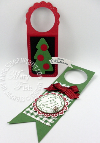 Stampin up demonstrator tutorial holiday wine bottle tag