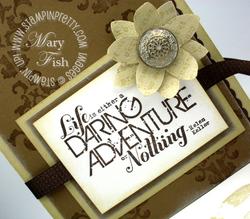 Stampin up daring adventure rubber stamp 5 petal flower punch demonstrator video