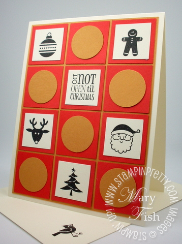 Stampin up demonstrator blog jolly bingo bits rubber stamps square circle punch