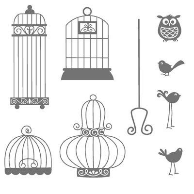 Aviary rubber stamps stampin up