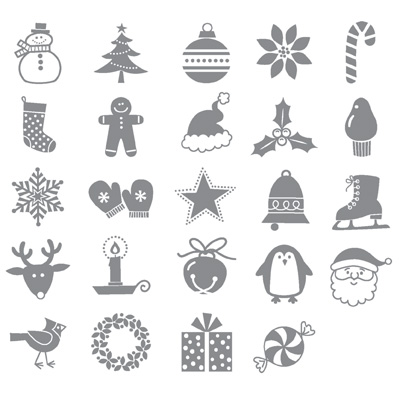 Jolly bingo bits rubber stamps stampin up