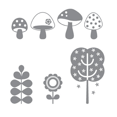 Funky four rubber stamps stampin up