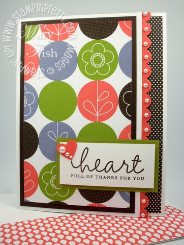 Stampin up lighthearted rubber stamp demonstrator card idea closed