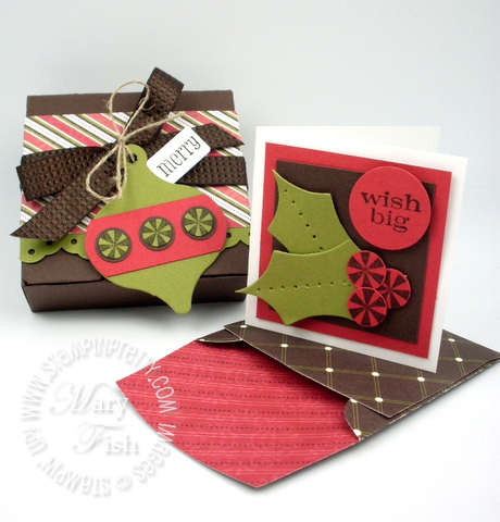 Stampin up big shot bitty box die stocking accents holiday card idea