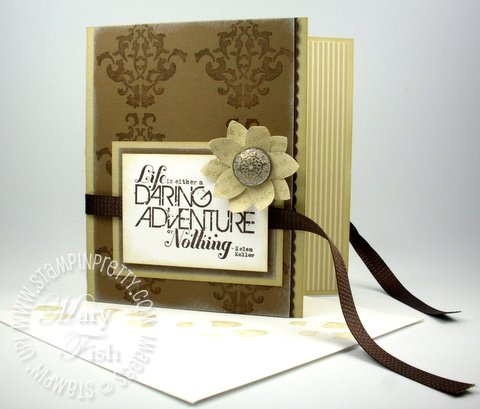 Stampin up pals paper arts stampin pretty daring adventure open