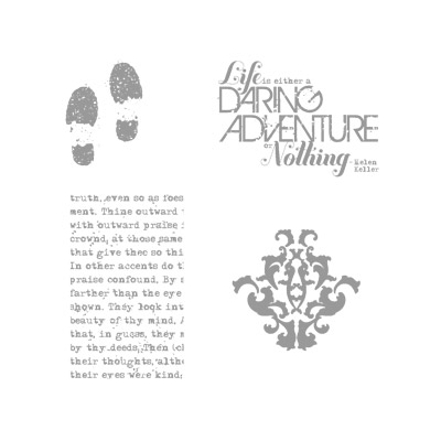 Daring adventure rubber stamps stamapin up