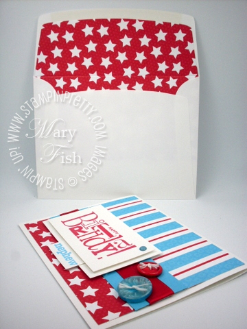 Stampin up birthday card lined envelope demonstrator blog video tutorial