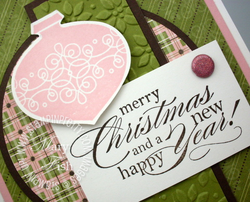 Stampin up delightful dozen rubber stamp circle scissor plus ornament punch