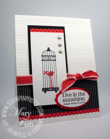 Stampin up aviary rubber stamps border punch simply scored scoring tool