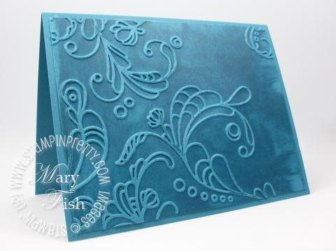 Stampin up video tutorial elegant lines textured impressions embossing folder big shot