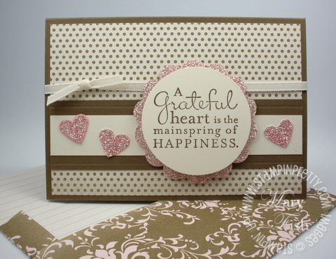 Stampin up rubber stamps pursuit of happiness demonstrator blog video tutorial