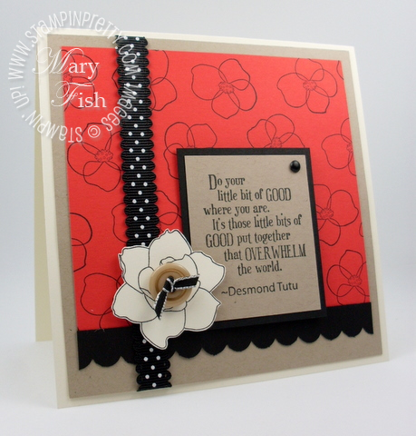 Stampin up pretty pursuit of happiness card border punch idea