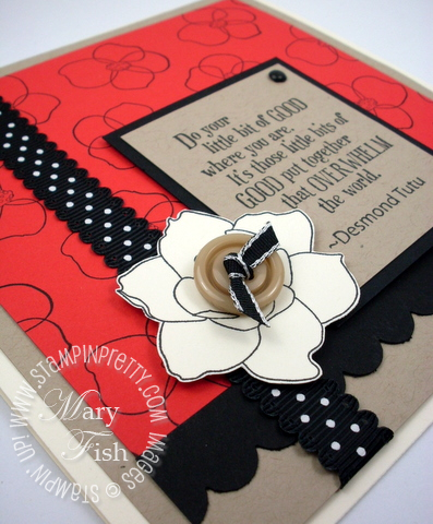 Stampin up rubber stamps pursuit of happiness card idea scallop punch