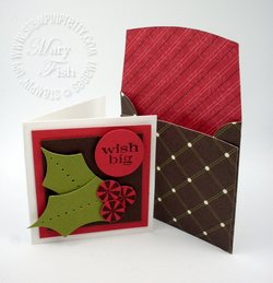 Stampin up bitty box envelope big shot die cutting machine stocking accents holiday die