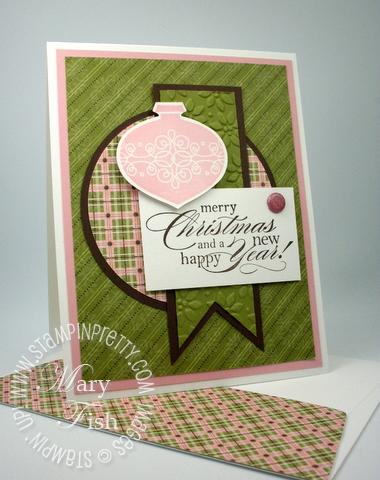 Stampin up holiday card idea big shot circle scissor plus tutorial