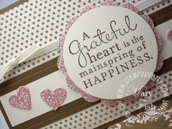 Stampin up demonstrator blog video tutorial silver glimmer paper