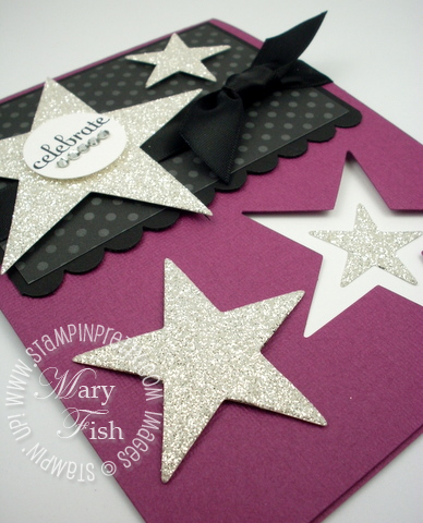 Stampin up movers shapers big shot bigz star die card idea