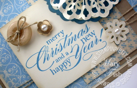 Stampin up lace border punch snowflake demonstrator video tutorial holiday card